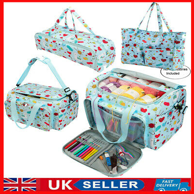 UK Knitting Yarn Storage Bag Case Crochet Hooks Thread Sewing Organizer Bags  • 14.39£