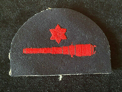 WW2 Royal Navy Seaman Gunner Embroidered Cloth Badge Patch Military MA1/6 • 15£