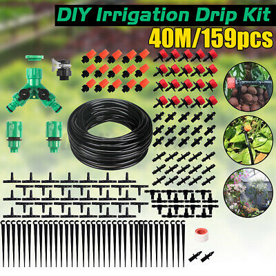 40M Micro Drip Irrigation System Set Automatic Watering Garden Hose Watering Kit • 13.99£