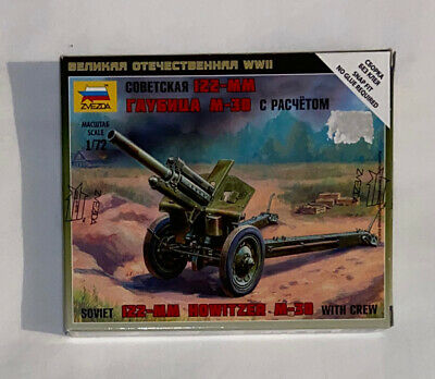 Zvezda 6122 Soviet 122mm Howitzer M1938 (M-30) With Crew Snap-Fit Kit Scale 1:72 • 4.50£
