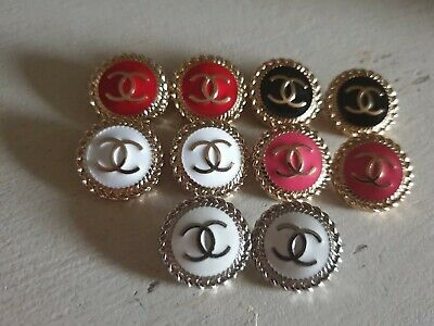 Set Of 10 Chanel Vintage Stamped Buttons 20mm • 100£