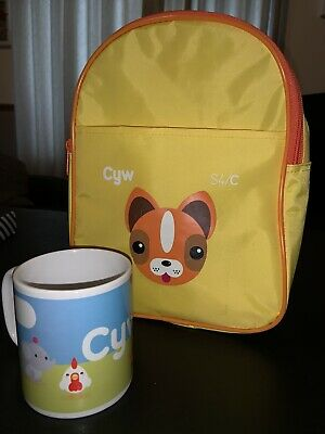 Cyw ~ S4C ~ Kids Bag (Used) ~ Mug (new) ~ Children's Welsh Learning Television. • 13.99£