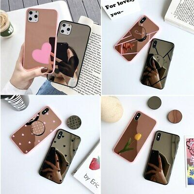 AU6.59 • Buy Luxury Mirror Phone Case Cover With Ring Holder Stand For IPhone 12 11 Pro Max