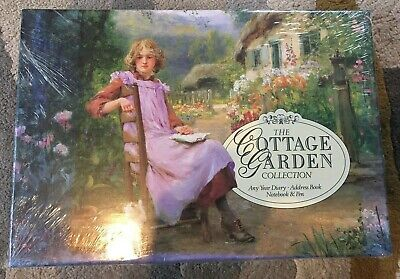 The Cottage Garden Collection Any Year Diary, Address Book, Notebook & Pen BNIB • 10£