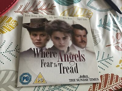 WHERE ANGELS FEAR TO TREAD DVD HELEN MIRREN HELENA BONHAM CARTER Classic Movie • 1.20£