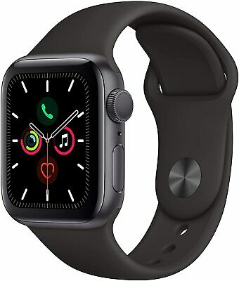 $ CDN353.46 • Buy Apple Watch Series 5 44mm Space Gray Case With Black Sport Bands - (MWVF2LL/A)