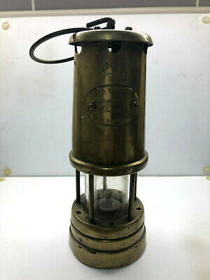 Vintage Hockley Lamp & Limelight Company Brass Welsh Miners Davey Lamp - NO RES • 10.50£