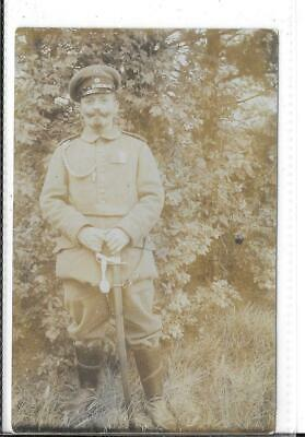 WW1 Photographic Postcard German Soldier In Uniform • 0.99£