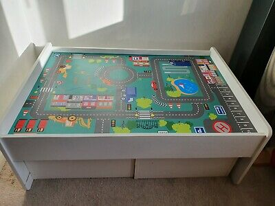 Childs Play Activity Desk Table With Drawers Lego Duplo Brio Playmobil • 40£