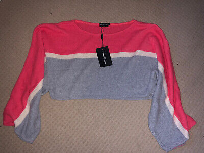 Pretty Little Thing Slouchy Knitted Jumper, Size Small, New With Tags • 3£