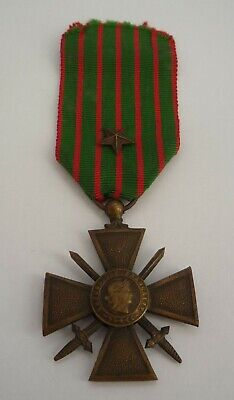 France / French Ww1 Croix De Guerre Medal 1914 - 1918 With Citation Star • 24.99£