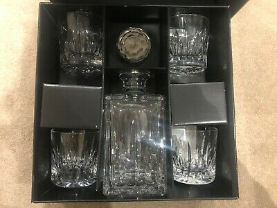 Atlantis Crystal Azores Decanter Set With 4 Tumbler (boxed) New Never Been Used • 50£