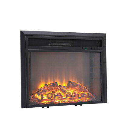 LED Electric Fireplace Log Burning Flame Effect Wall/Inset Fan Heater + Remote • 139.14£