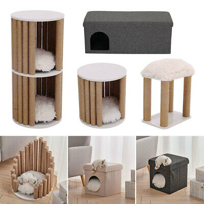 Cat Rest & Play Activity Tree Cat House Perch Scratching Post Climbing Tower NEW • 46.95£