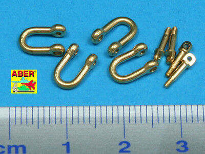 1/35 ABER R13 FOUR LATE MODEL SHACKLE For GERMAN TIGER II For DRAGON TAMIYA Etc. • 5.72£