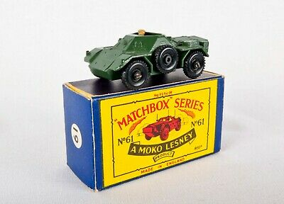 Matchbox Moko Lesney Armoured Ferret Scout Car With Box Good Condition • 30£