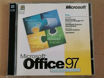 Microsoft Office 97 Small Business Edition & Financial Manager, Autoroute, IE • 14.99£