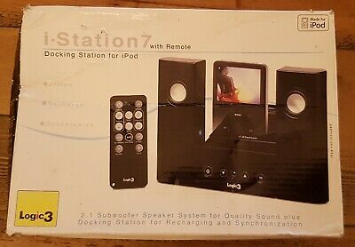 Logic3 I-Station 7 - MIP107 With Adapter And Remote • 9.99£
