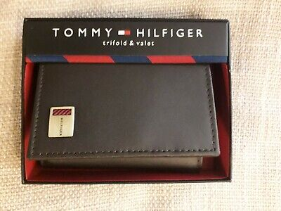 New Tommy Hilfiger Men's Leather Brown Wallet - Trifold • 6.50£