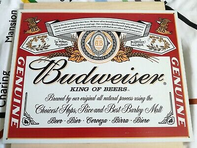 2001 Budweiser Metal Sign • 22.99£