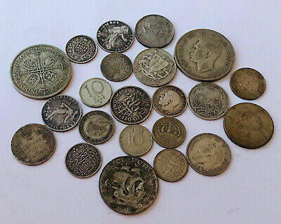 Old Silver Coins British And Foreign • 9.99£