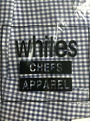 Chef Whites Apparel Trousers 42  Blue/White Check (new) • 4.55£