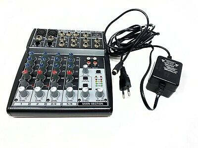 Behringer 802 Xenyx 8 Input 2 Bus Mixer & Eu Cable - Analog Recording 8 Channel • 45£