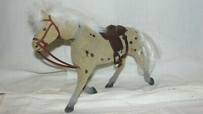 Vintage  Nodder Appaloosa? Horse W/ Saddle  • 12.01£