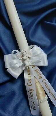 First Holy Communion Candle 35 Cm Long Christening Gift Baptism Ceremony Angel • 10.20£