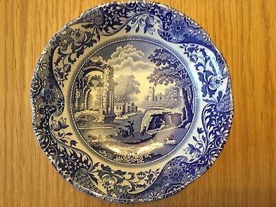 Spode Italian Shallow Dish Blue And White • 9.99£