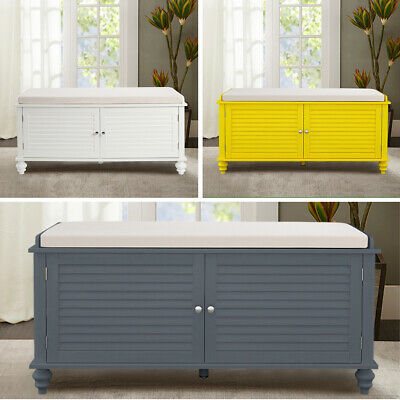 Large Ottoman Storage Bench Shoe Stool Bed End Footstool Hallway Cabinet Bench • 115.95£