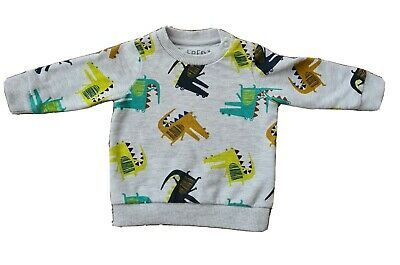 Baby Boys Dinosaur Jumper 0-3 Months Up To 3 Months Fred And Flo • 2£