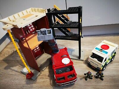 Imaginext Fire Station With Fire Truck And Crew- Fisher Price & Ambulance • 15£