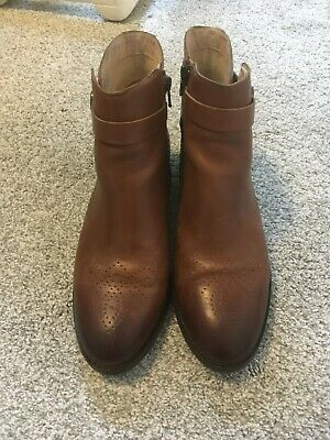 Clarks Tan Leather Boots - UK Size 6.5 • 34.99£