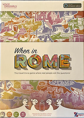 Voice Originals When In Rome Travel Trivia Game Powered By Alexa • 3£