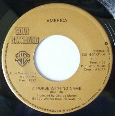 America:  A Horse With No Name / Sister Golden Hair:  Near Mint Single From 1972 • 5£