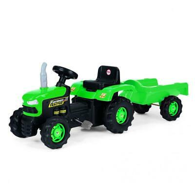 £52.99 • Buy Dolu Pedal Tractor With Trailer Childrens Ride On Toy Outdoor Garden Fun Kids