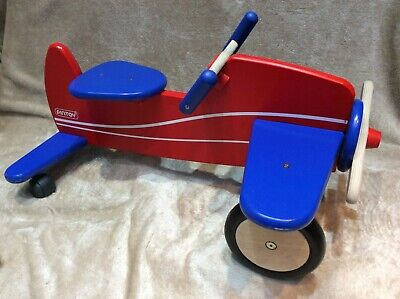 Pintoy,sit&ride Aeroplane Very Sturdy Heavy Duty Wooden Sit&ride Excellent Cond. • 44.99£