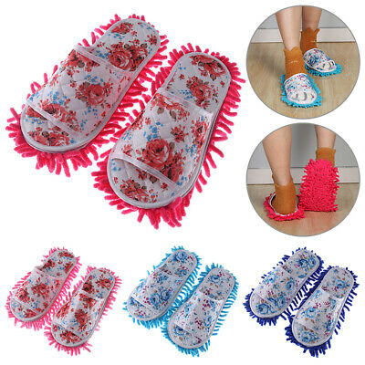 Wearable Lazy Microfiber Dust Mop Slippers Bathroom Floor Home Cleanning Tools • 6.39£