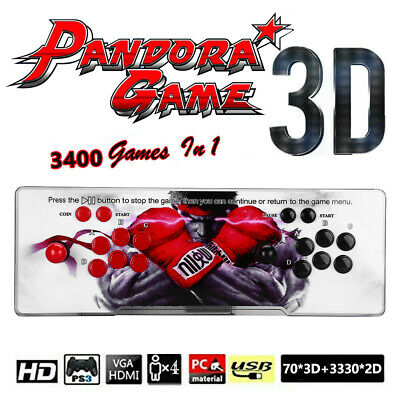 AU200.44 • Buy Pandora's Box 3400 Games 2D 3D HD Video Arcade Console Double Joystick Pandoras