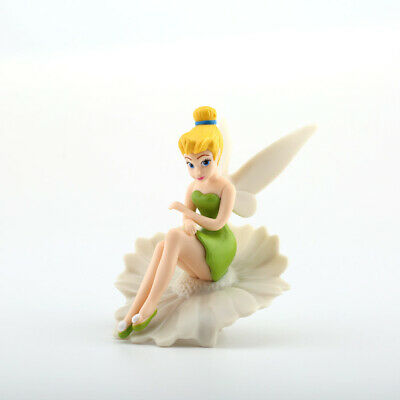 Disney Tinker Bell Fairy In Flower Scene Figure Figurine Doll Toy Ornament 11cm • 5.99£