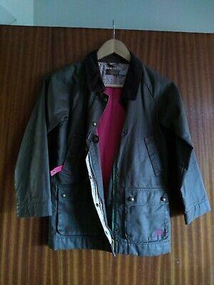 Girls 9-10 Yr Waterproof Winter Wax Jacket In Excellent Condition Little Joules  • 4.75£