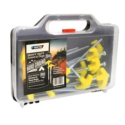 AU37.99 • Buy Whites Wires Screw In Tent Pegs, Electro-Galvanised Finish Strong Holding 15 Pck
