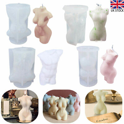 Human Body Silicone Candle Mold Female Perfume Candle Making Wax Mould Soap Mold • 8.80£