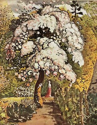 In A Shoreham Garden Samuel Palmer Vintage Print In 11 X 14 Inch Mount SUPERB • 19.95£