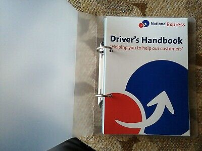 National Express Coach Service Drivers Handbook, Never Been Used, New Condition. • 12.50£