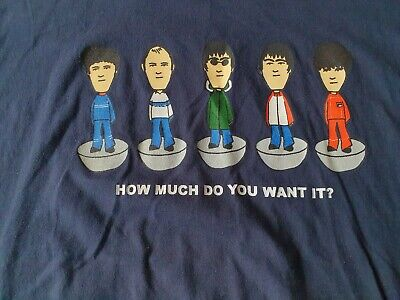 80s Casual Classics Oasis Band Table Football Tshirt Large • 11£