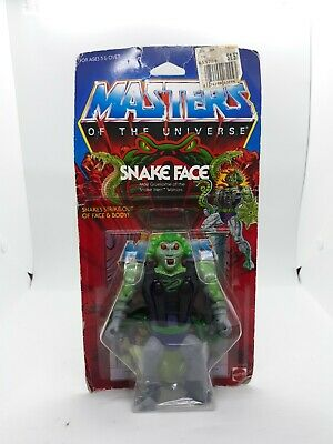 $700 • Buy MOTU VINTAGE SNAKE FACE Masters Of The Universe  Carded Sealed He-Man A3