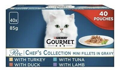 Gourmet Perle Cat Food Chef Collection 40X85g • 19.99£