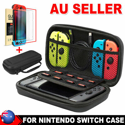 AU14.95 • Buy For Nintendo Switch Carry Bag Storage Console Protect Shell Case Tempered Glass